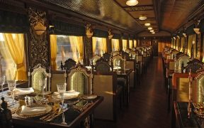 Mayur Mahal, dining are at Maharajas' Express.