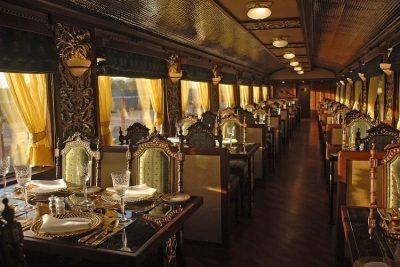Mayur Mahal, dining are at Maharajas' Express.