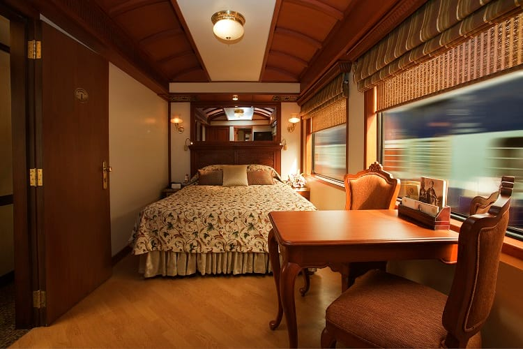 Double bed rooms in Maharajas' Express.