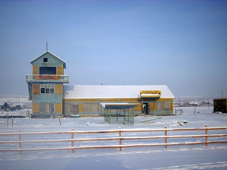 Abandoned airport in Verkhoyansk.