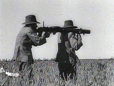 Lewis Machine Gun during Emu War.