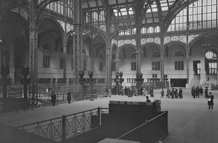 The interior of the old Penn Station.