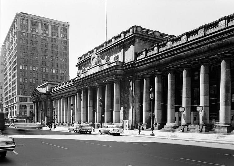 Pennsylvania Station, east facade.
