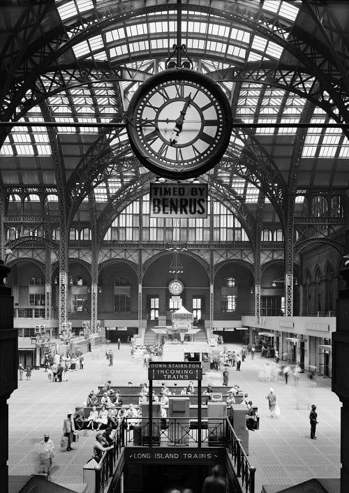 Old Penn Station: Platform hall of the historic reception building 1911.