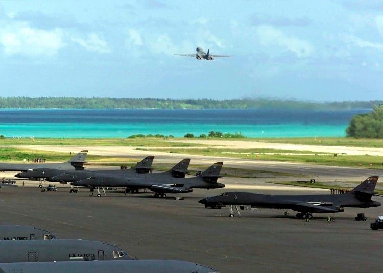 US military base at Diego Garcia.