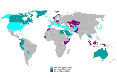 US military bases around the globe as of 2007.