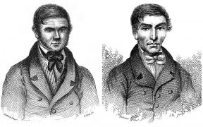 William Burke (left) and William Hare (right).