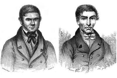 William Burke (left) and William Hare (right).