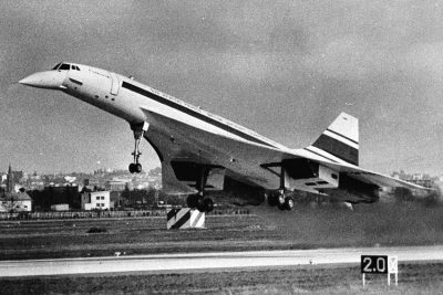 First flight of Concorde in France.