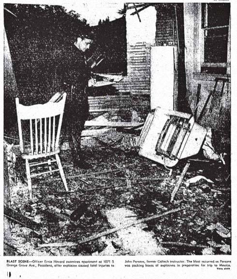 Jack Parsons death scene.