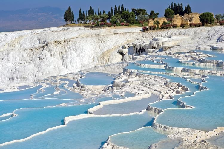 Pamukkale or Cotton Castle.