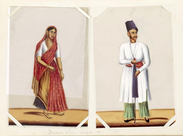 Zoroastrianism: Parsi traditional dress.