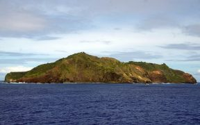 View of Pitcairn Island.