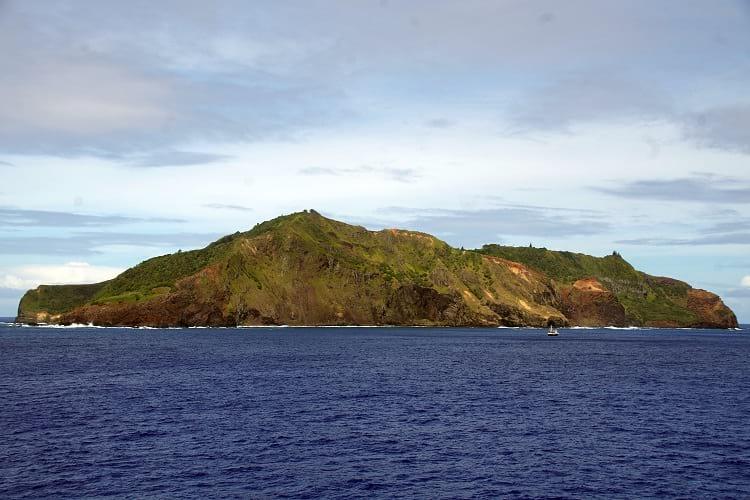 View of Pitcairn Island.