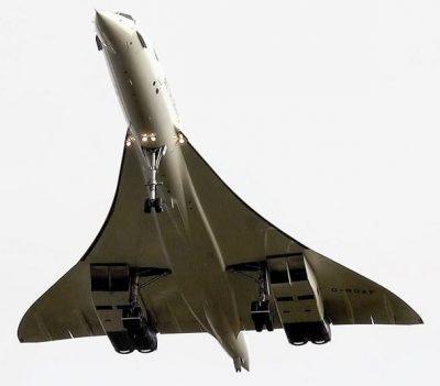 The underside of Concorde Jet.