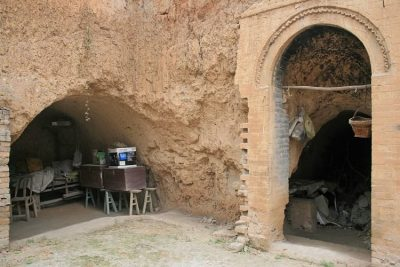 A cave house.