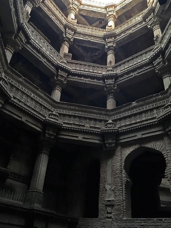 The interior of Adalaj stepwell.