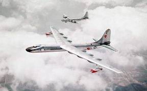 Convair NB-36H Peacemaker accompanied by Boeing B-50