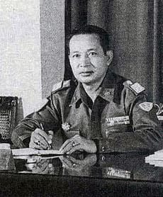 General Suharto in his office.