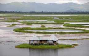Loktak Lake in Manipur, India.