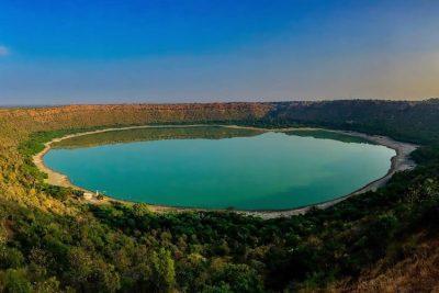 Lonar Sarovar lake, Maharashtra.