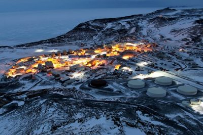 McMurdo Station in Antarctica.