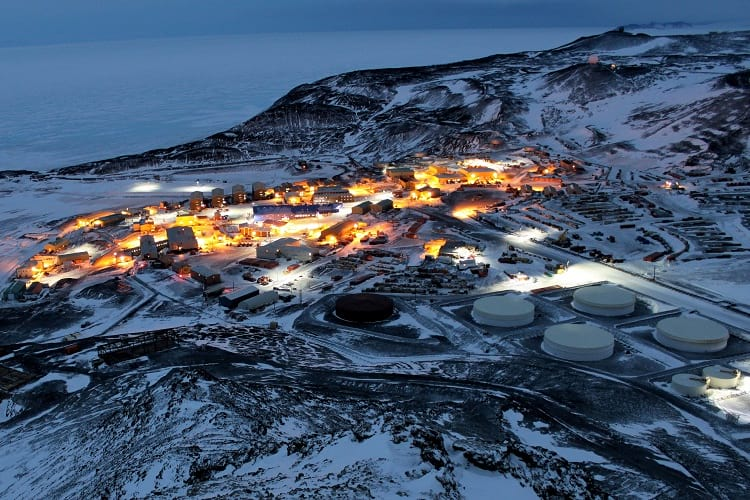 McMurdo Station in Antarctica.