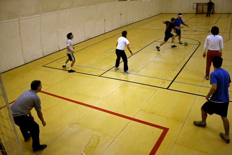 Indoor soccer, sports activity at McMurdo Station.