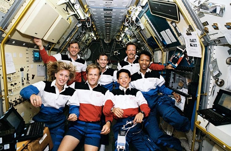 Mae C. Jemison along with her crew members of STS-47.