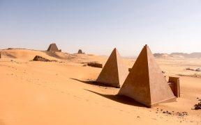 Nubian pyramids, Meroë.