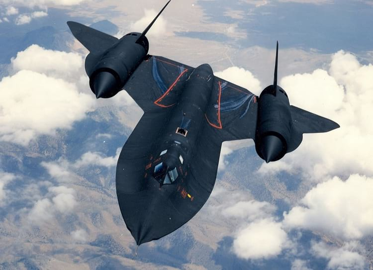 Blackbird SR-71 during flight.