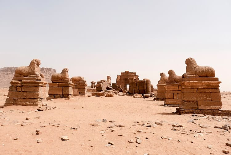 The ruins of Temple of Amun in Nubia.