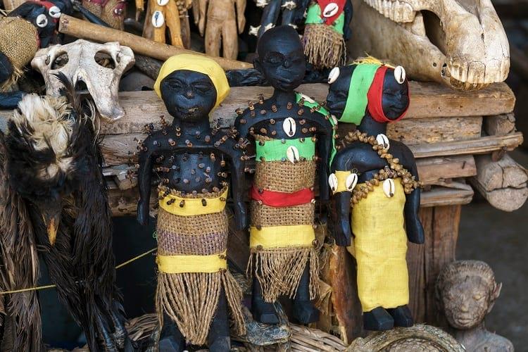 Voodoo dolls at Akodessawa Fetish Market.