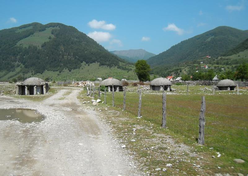 Bunkers in Vermos, Albania.