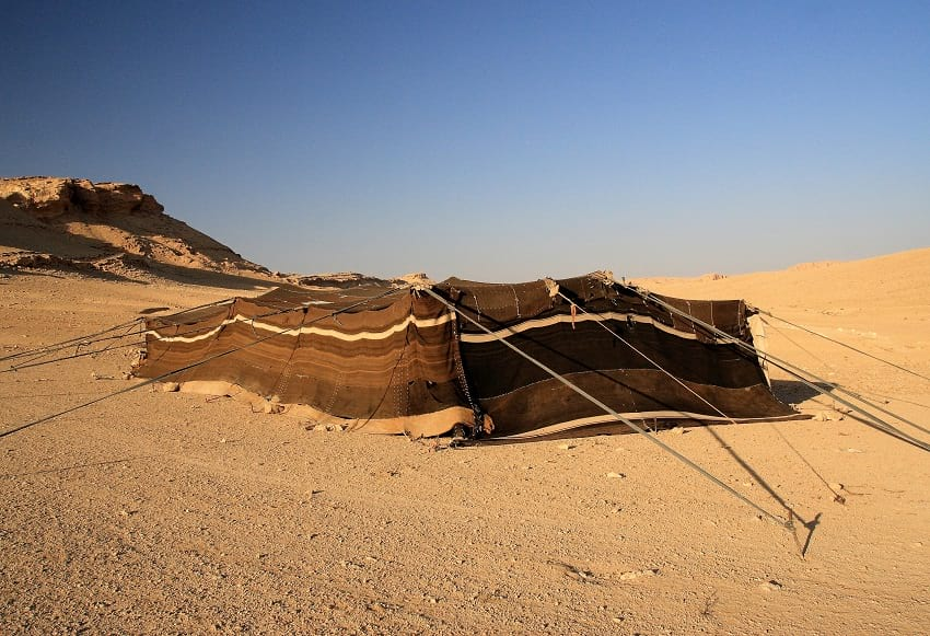 A Bedouin tent.