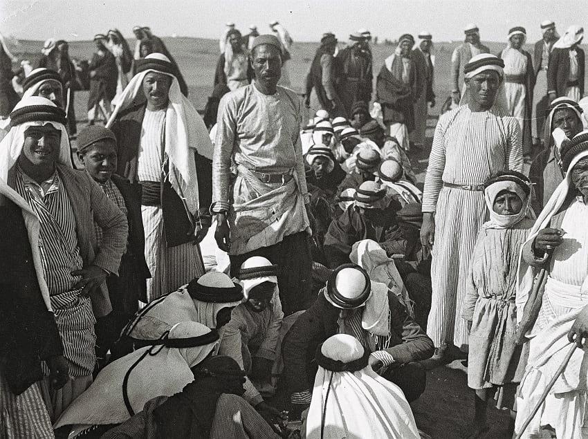 Bedouins having a meal.