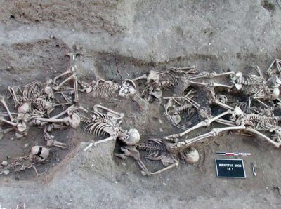 Mass grave of Black Death victims