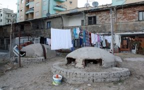 Bunkers near residential area in Albania.