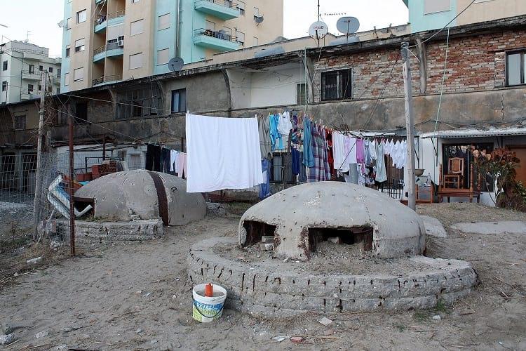 Bunkers in Albania.