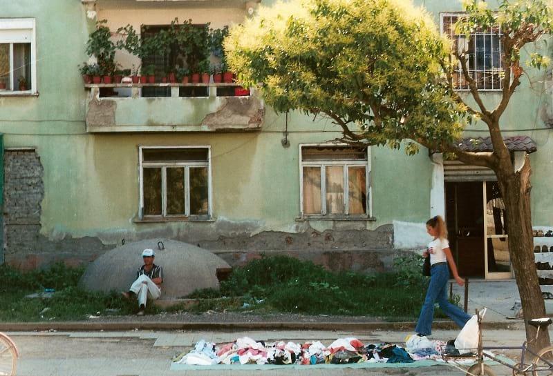 Bunker on the street of Albania.