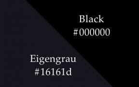 Eigengrau vs. the black colour.