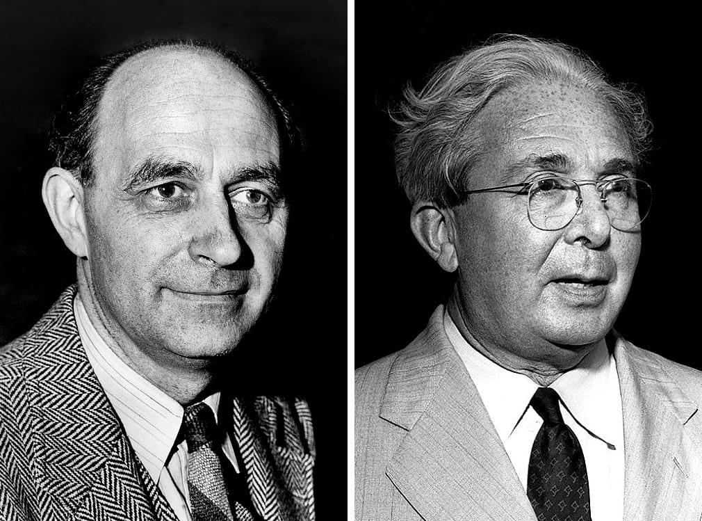 Enrico Fermi and Leo Szilard.