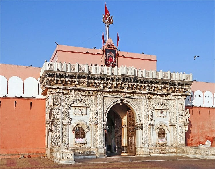 The entrance of Karni Mata Temple.