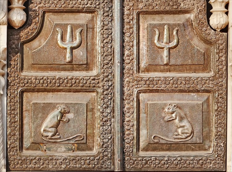 Reliefs found on the facade of Karni Mata Temple.