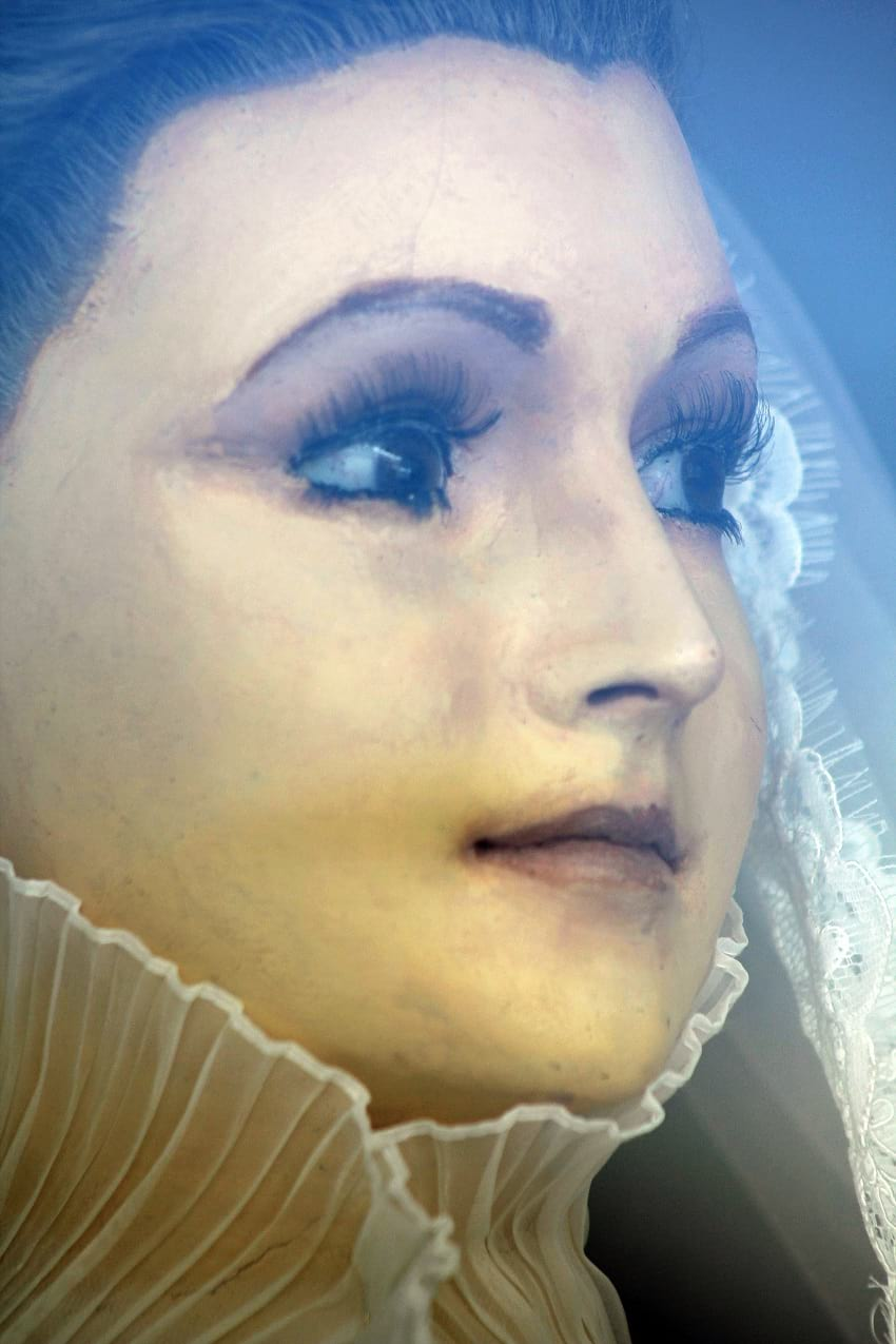 Close up photo of La Pascualita's face.