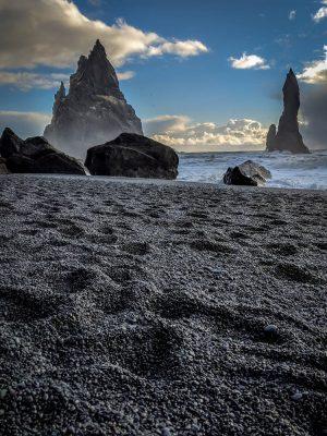 The black sand of Reynisfjara.