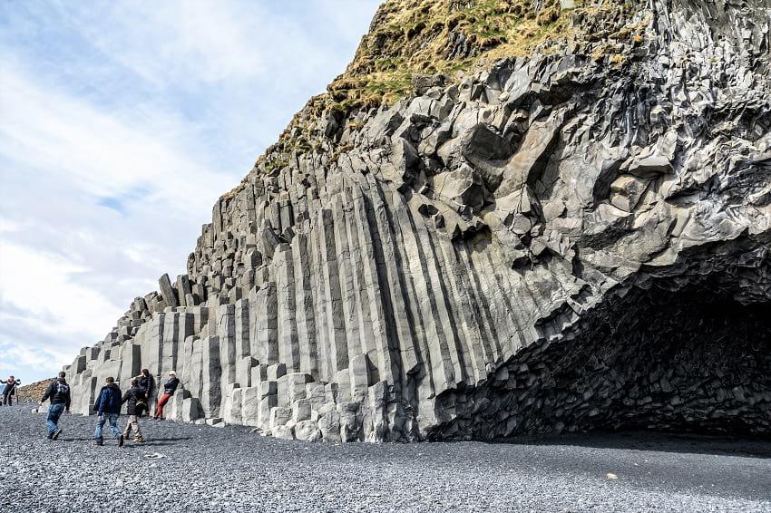 Natural pillar like formation at Reynisfjara.