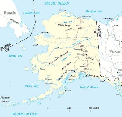 Trans-Alaska Pipeline System map.