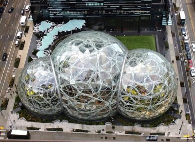 Amazon Spheres in Seattle.