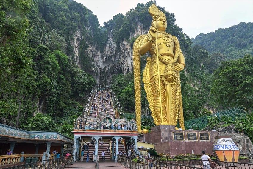 Statue of Lord Murugan near Batu Caves.